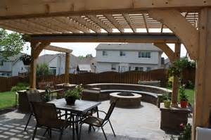 Fire Pit Pergolas with Swings