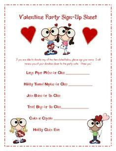a sample class sign up sheet that i made cool 740 | 0828b2ec7017e7c3a4e1938c805de1bf valentine party valentines day
