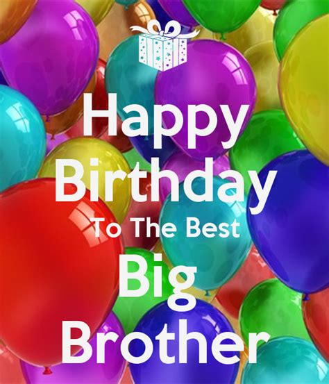 happy birthday    big brother poster