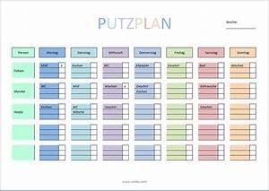 Wohnung Putzen Checkliste : putzplan zum ausdrucken pdf word xobbu ~ Lizthompson.info Haus und Dekorationen