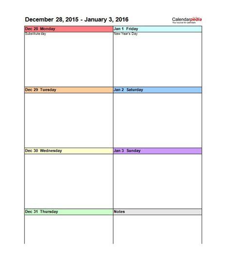Weekly Calendar Template 26 Blank Weekly Calendar Templates Pdf Excel Word