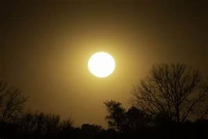 Late Afternoon Sun In Orange Sky Image - Free Stock Photo - Public Domain Photo