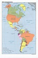 Map of North and South America (Political Map ...