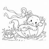 Coloring Cat Pages Printable sketch template