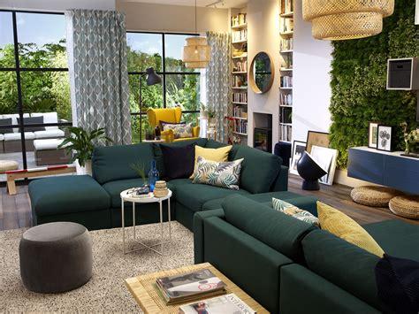 image result  ikea vimle sofa green living room