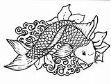 Fish Coloring Scales sketch template