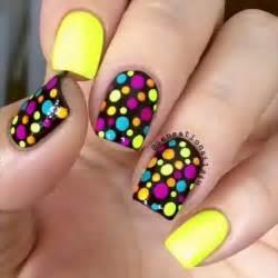 Trendy neon colorful nail art designs uk