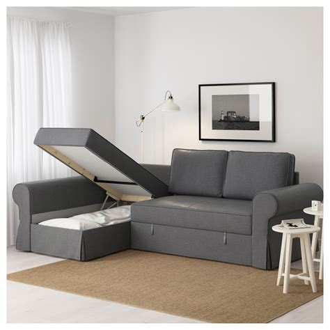 chaises longues ikea backabro sofa bed with chaise longue nordvalla grey