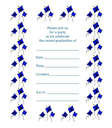 free printable preschool graduation invitations free printable graduation invite flying caps 570
