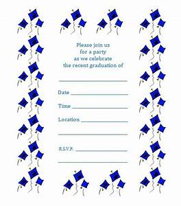 Free printable graduation party invite flying caps for Printable graduation party invitations