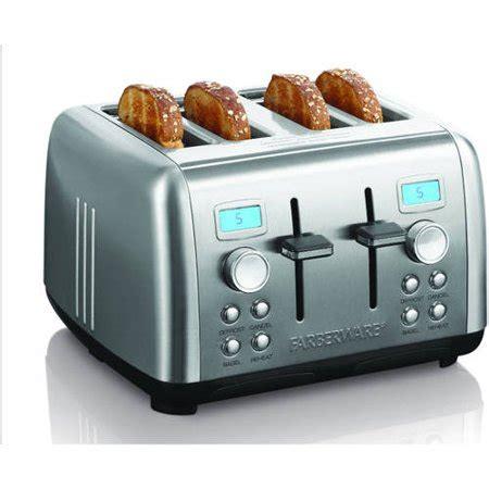 Stainless Steel 4 Slice Toaster by Farberware Stainless Steel Dual Digital 4 Slice