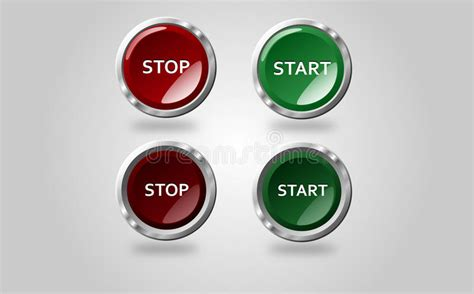 button stop start stock illustration of unpressed 89528701
