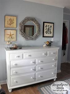 Beach bedroom quilt and decorating jacquelynne steves for Home goods white furniture