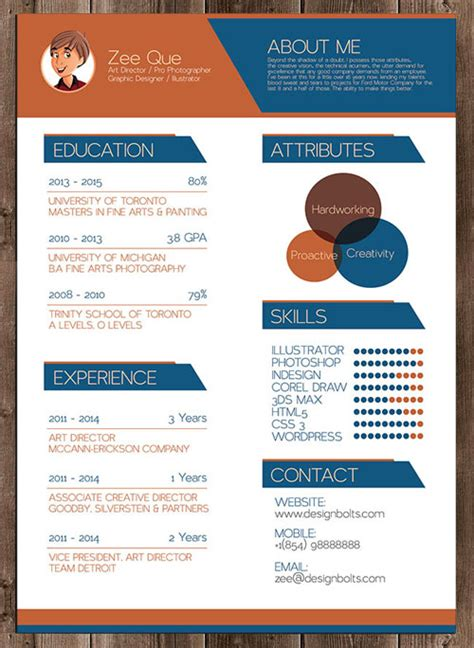 50 simple creative resume cv design ideas exles