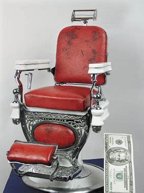 Theo A Kochs Barber Chair Headrest by Rare Porcelain Kochs Salesman Sample Barber Chair