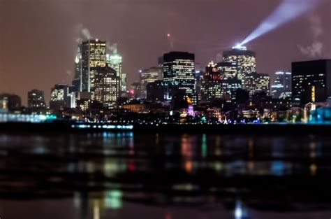 photo du jour montreal skyline  night spacing montreal