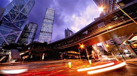 Night City Lights Hd Desktop Wallpaper