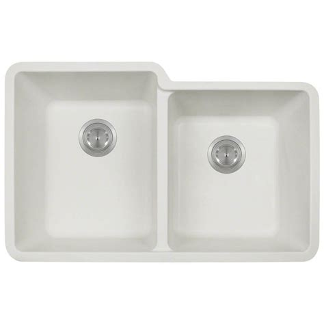 white composite kitchen sinks polaris sinks undermount composite 33 in bowl 1278