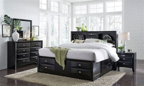 Bookcase In Bedroom by Bookcase Storage Bedroom Set Black Global