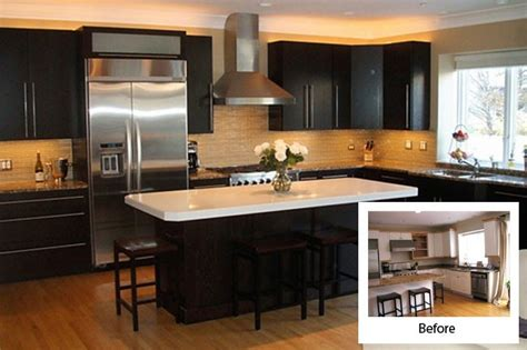 reface kitchen cabinets before and after before and after kitchen cabinet refacing modern kitchens 9208