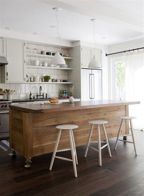 large kitchen with island simo design puts large kitchen island on wheels