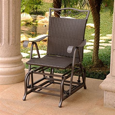 international caravan valencia wicker outdoor glider chair