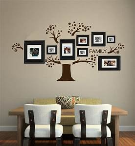 Tree vinyl wall decal photo display familia art decals