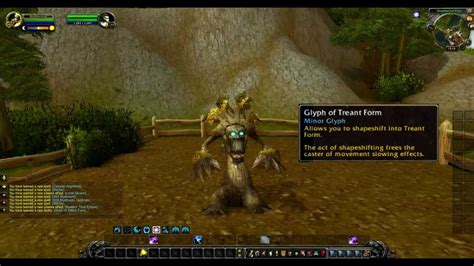 Mists Of Pandaria Druid Glyph Of Treant Form Youtube
