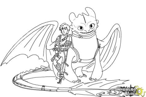 draw hiccup  toothless    train