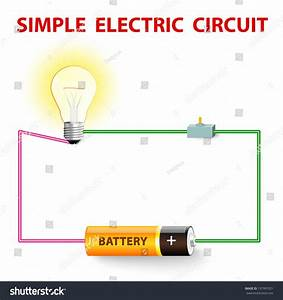 Simple Electric Circuit Electrical Network Switch Stock