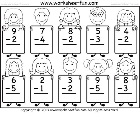 free printable kindergarten math worksheets health