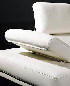 t60 white leather sectional sofa w adjustable headrests arm With leather sectional sofa with adjustable headrest