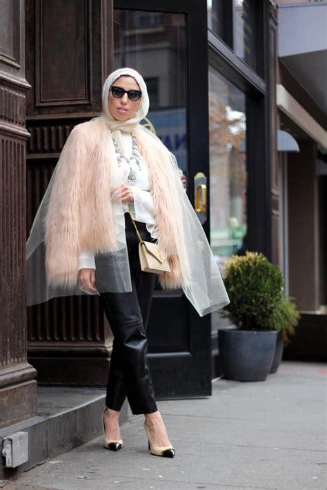 leather trousers    wear hijab