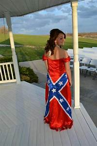 Rebel flag wedding dress confederate flag southern style for Confederate flag wedding dress
