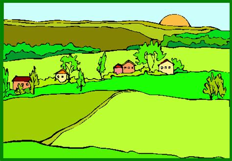Country Clipart by Country Clipart Pencil And In Color Country Clipart