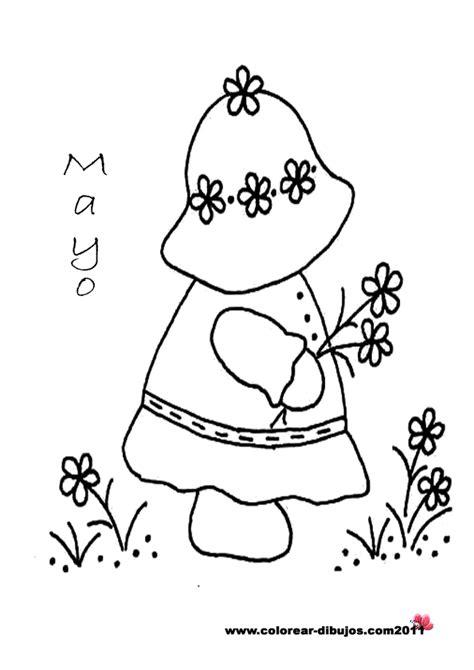 bonitos dibujos  pintar del mes de mayo colorear imagenes