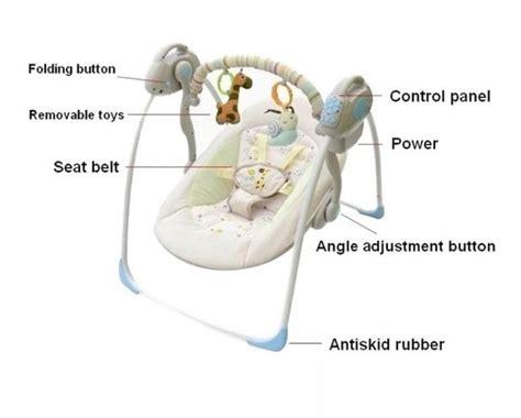 Vtg Graco Swyngomatic Crank Wind Up Infant Baby Swing No