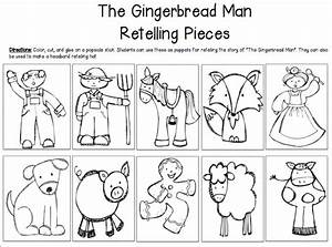 run run gingerbread man literacy and math unit With gingerbread man story map template