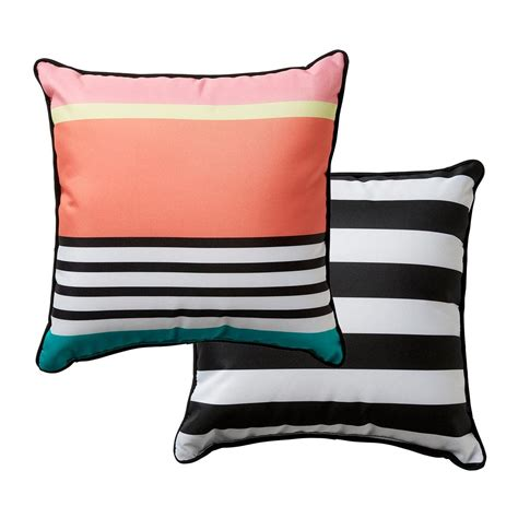 kmart outdoor cushions australia reversible 38cm outdoor cushion stripe kmart