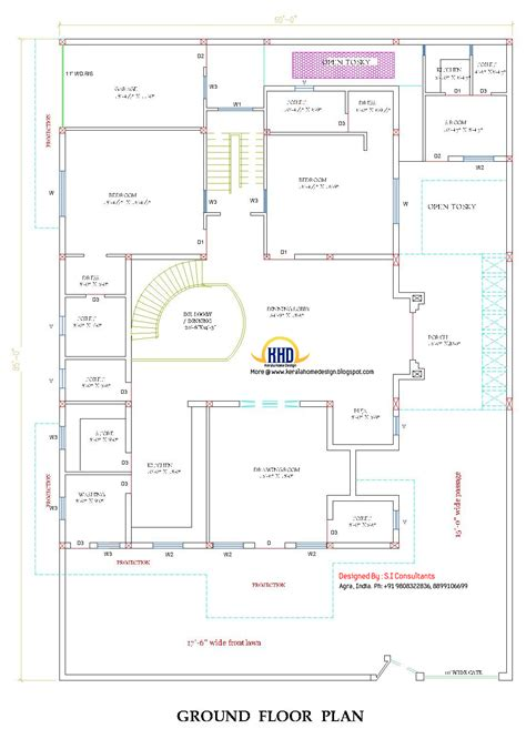 ground floor plan indian home design with plan 5100 sq ft home home