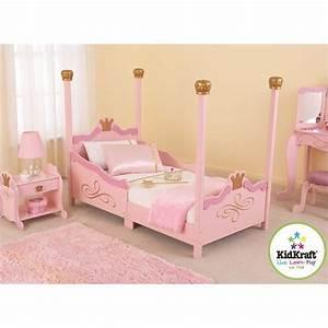 KidKraft Princess Girls Toddler Bed in Pink - 76121