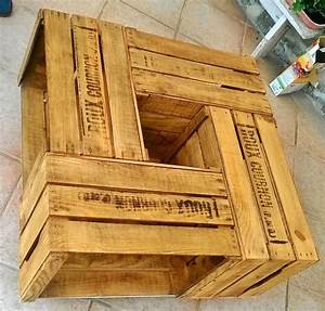 Caisse De Pomme : 17 best images about caisse pommes on pinterest shelves wooden crate shelves and crate shelves ~ Teatrodelosmanantiales.com Idées de Décoration