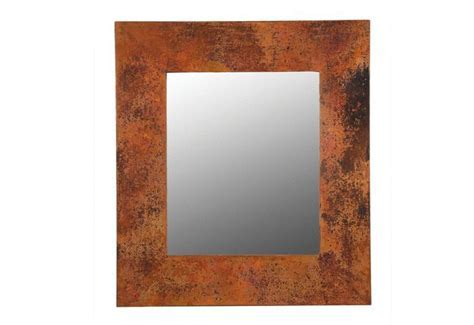 Rustic Rectangular Copper Mirror Frame   Copper Sinks Online
