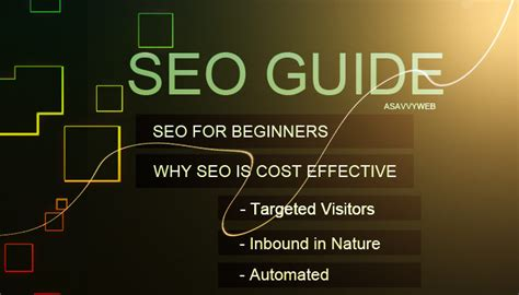 seo for beginners seo for beginners and why seo is cost effective a savvy web