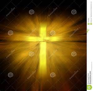 Christian Cross with Light