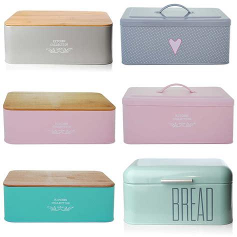 Bread Holder Bin Box Vintage Design Home Kitchen Storage