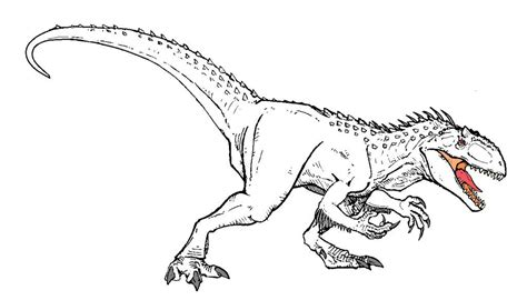 Indominus Kleurplaat by Indominus Rex Jurassic World Coloring Pages