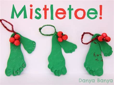diy ornament place card rudolph baby footprint cards danya banya