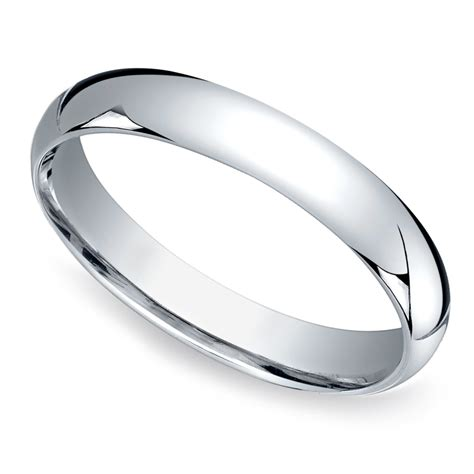 mid weight s wedding ring in platinum 4mm
