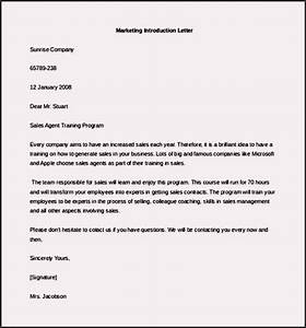 free marketing letter of introduction template example With free sample email marketing letter